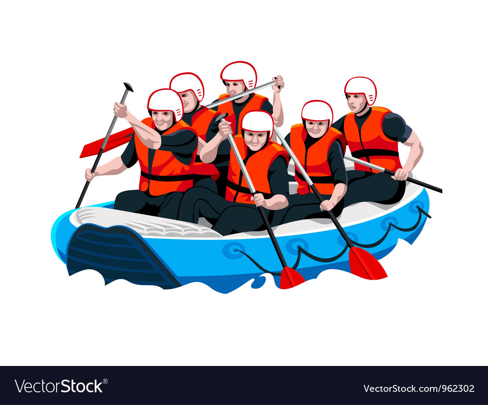 Rafting team vector | Price: 3 Credit (USD $3)