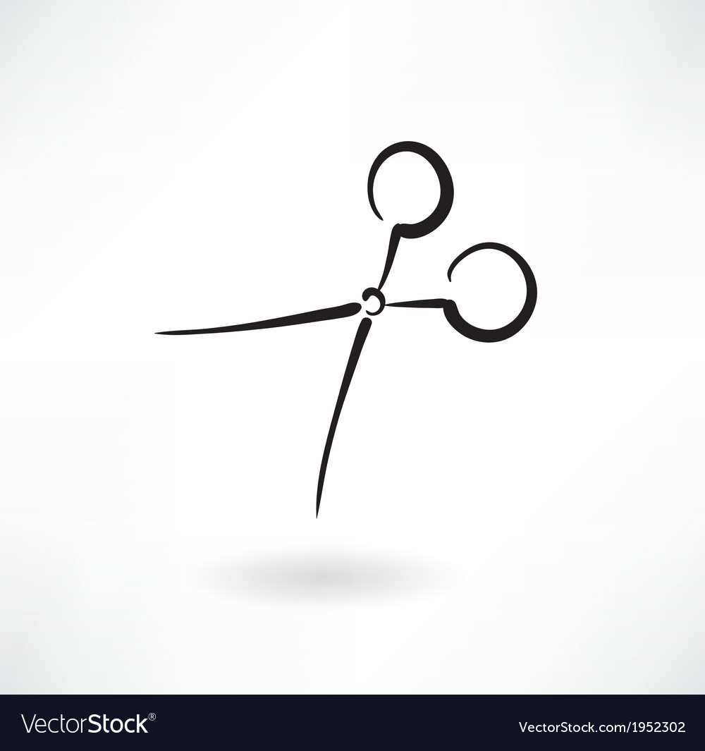Scissors grunge icon vector | Price: 1 Credit (USD $1)