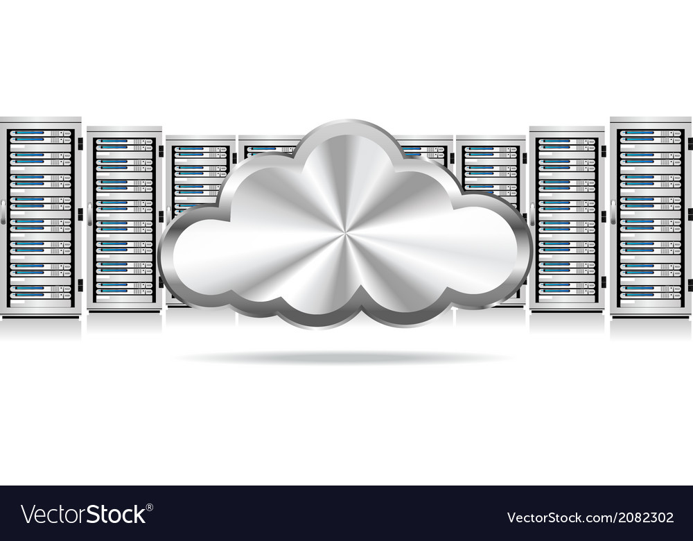 Servers and cloud vector | Price: 1 Credit (USD $1)