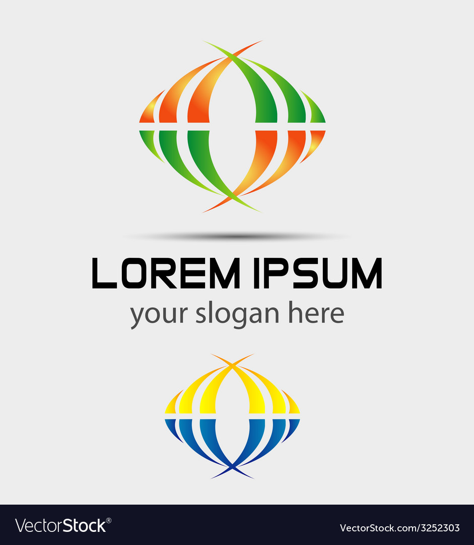 Colorful business logo vector | Price: 1 Credit (USD $1)