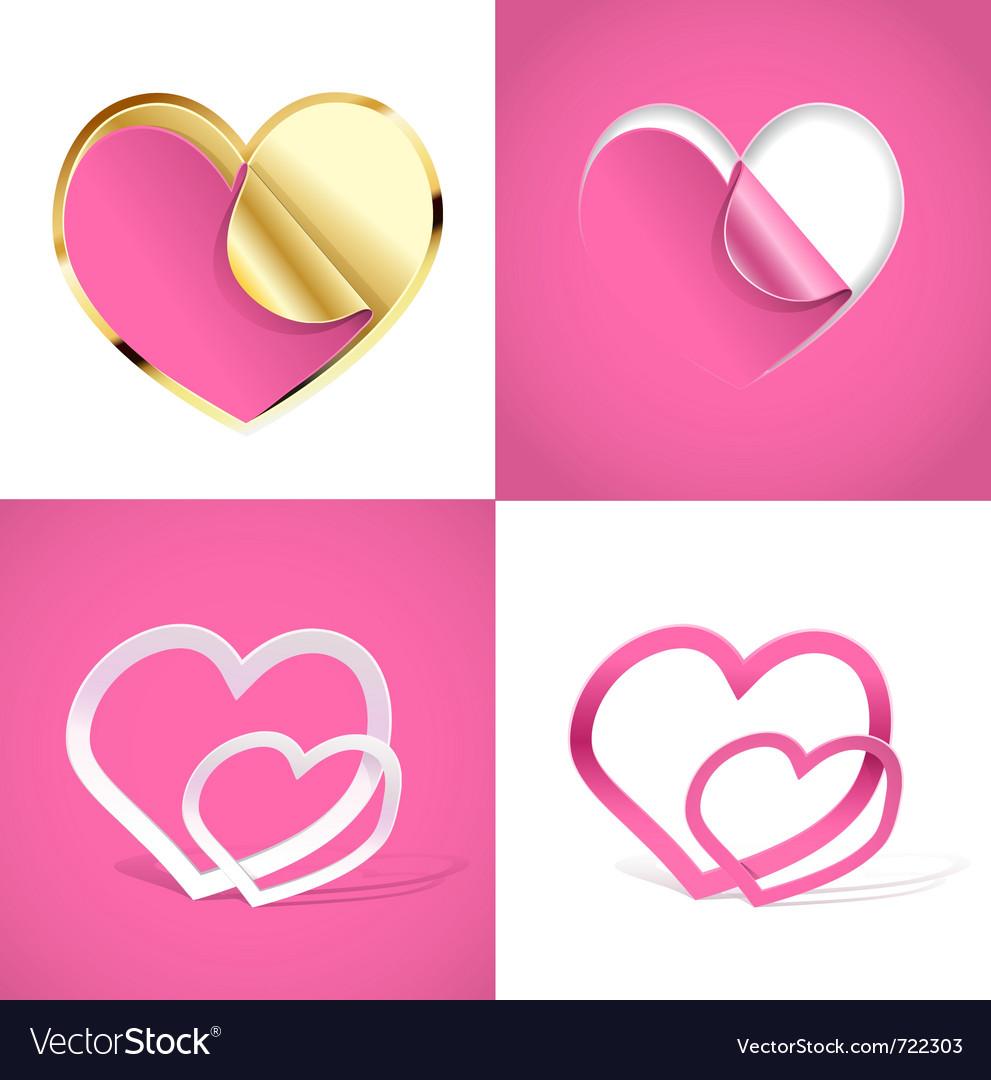 Creative hearts vector | Price: 1 Credit (USD $1)