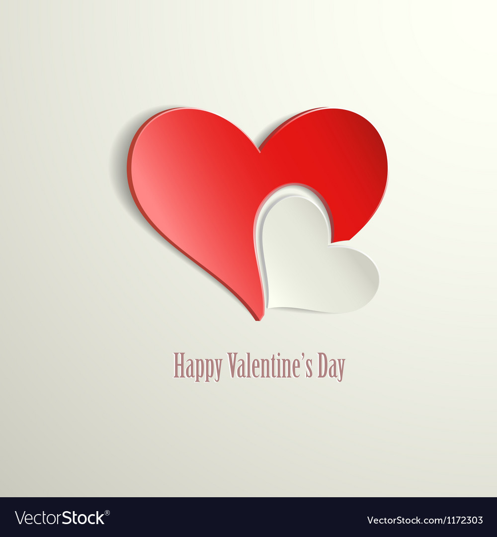 Happy valentines day hearts vector | Price: 1 Credit (USD $1)