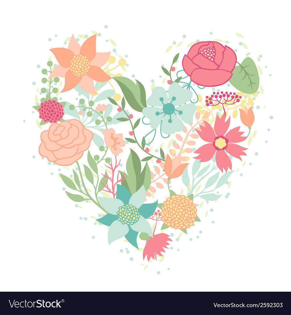 Invitation card with pretty stylized flowers in vector   Price: 1 Credit (USD $1)