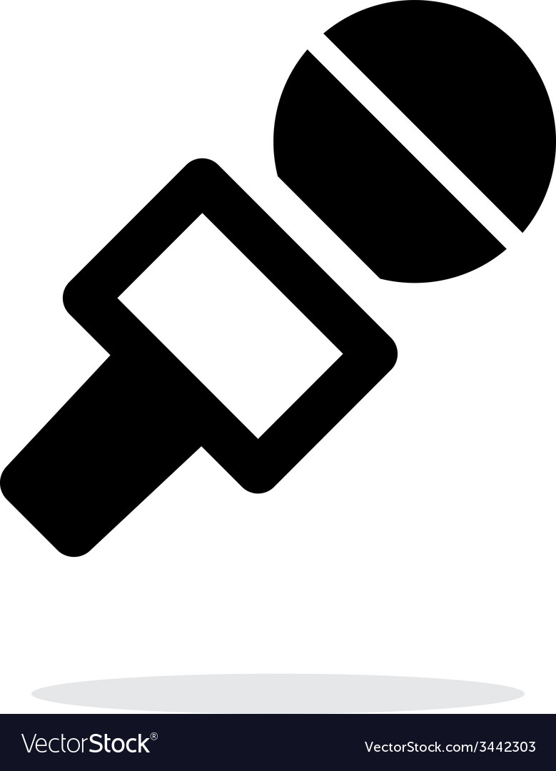 Journalist microphone icon on white background vector | Price: 1 Credit (USD $1)