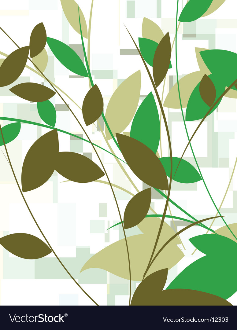 Leafy background vector | Price: 1 Credit (USD $1)
