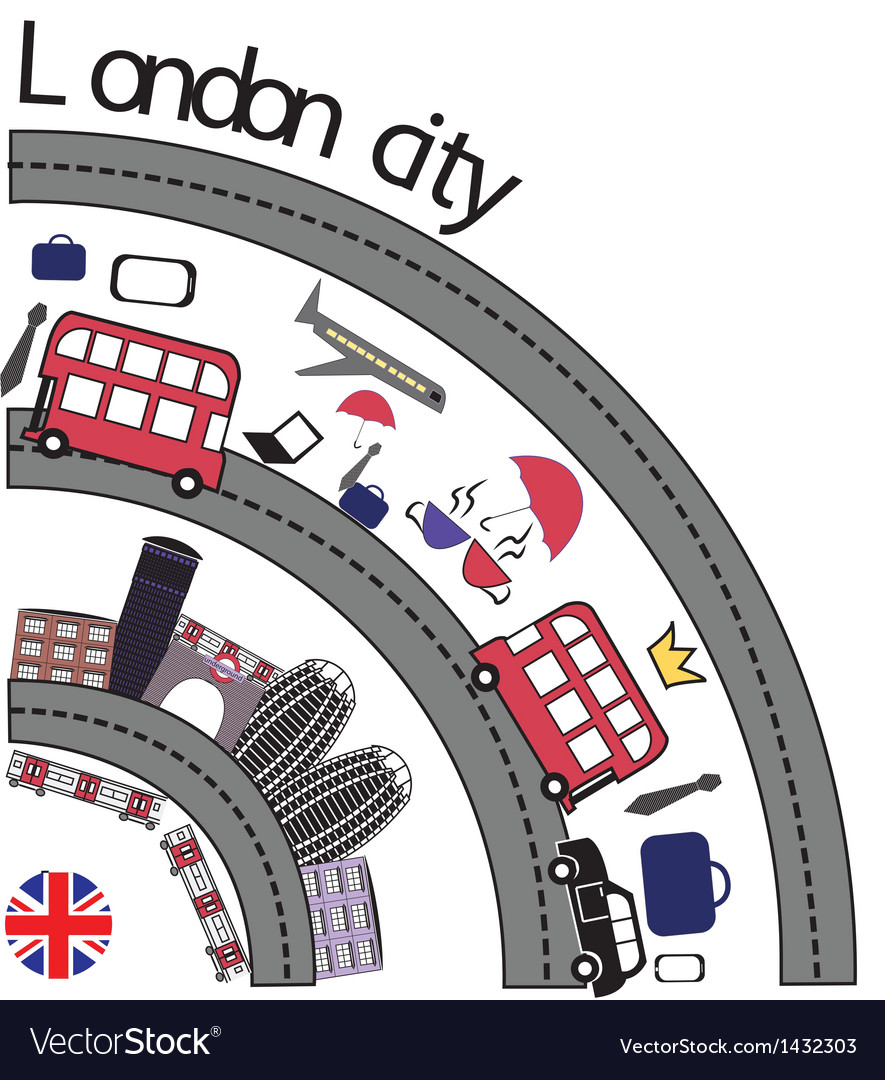 The london city vector | Price: 1 Credit (USD $1)