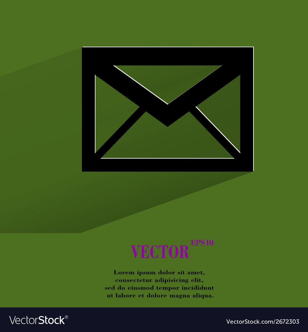 Mail envelope flat modern web button with long vector   Price: 1 Credit (USD $1)