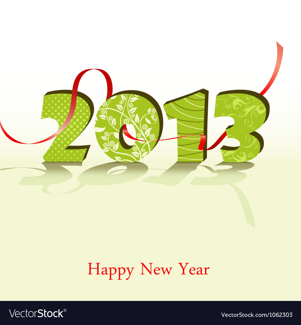 New year 2013 vector | Price: 1 Credit (USD $1)