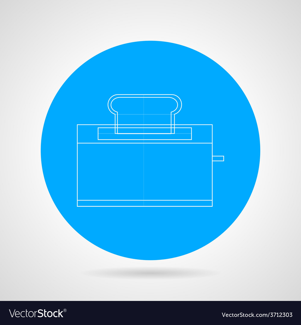 Outline icon for toaster vector | Price: 1 Credit (USD $1)