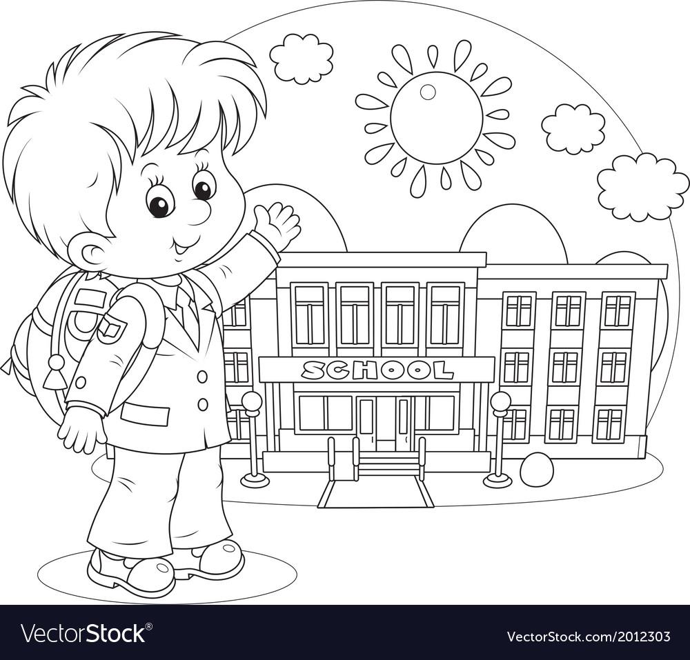 Schoolboy vector | Price: 1 Credit (USD $1)