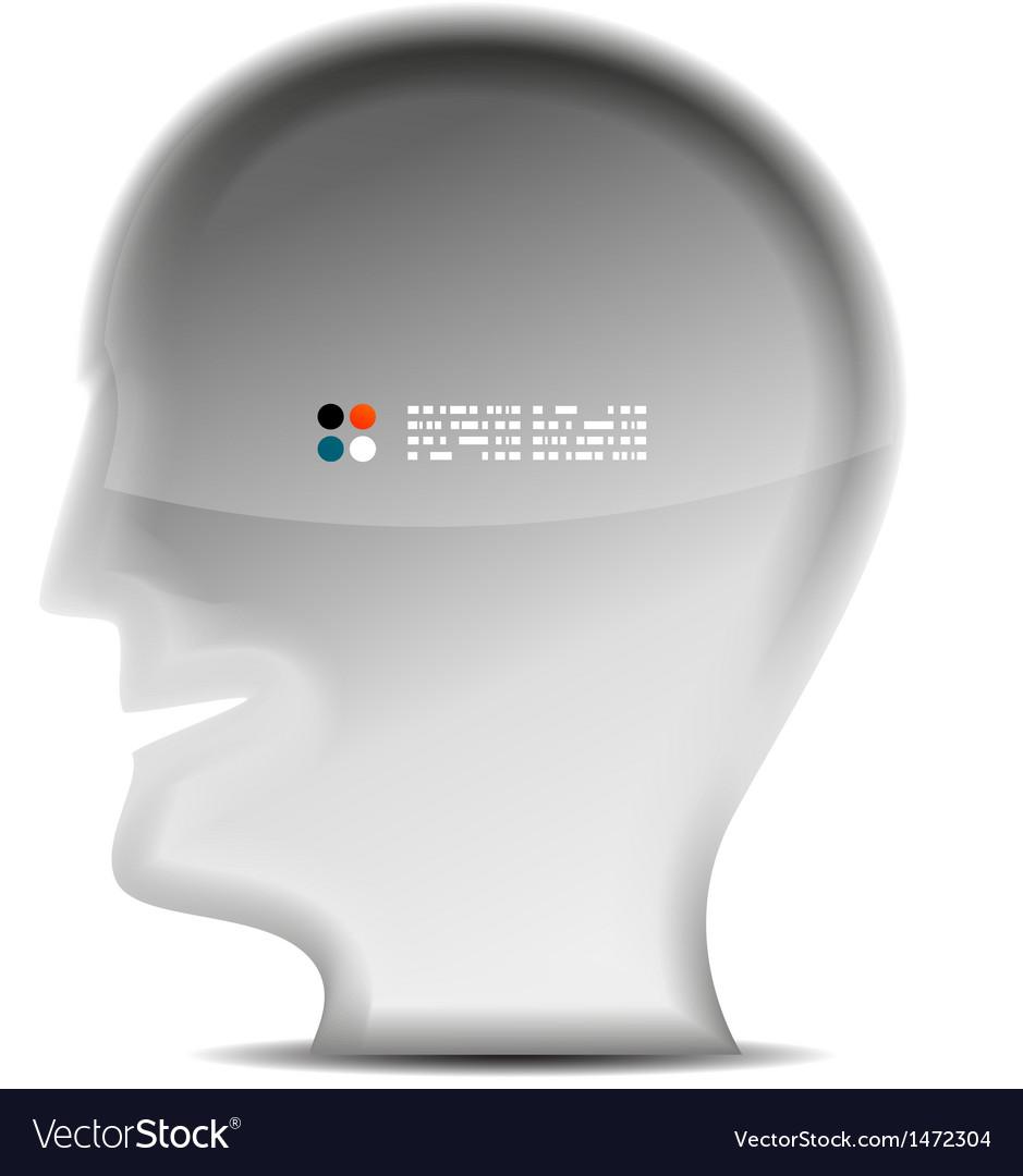 3d white head person concept vector | Price: 1 Credit (USD $1)