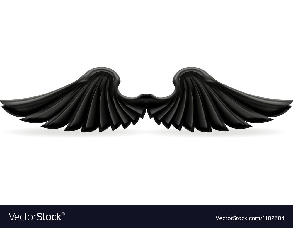 Black wings vector | Price: 1 Credit (USD $1)