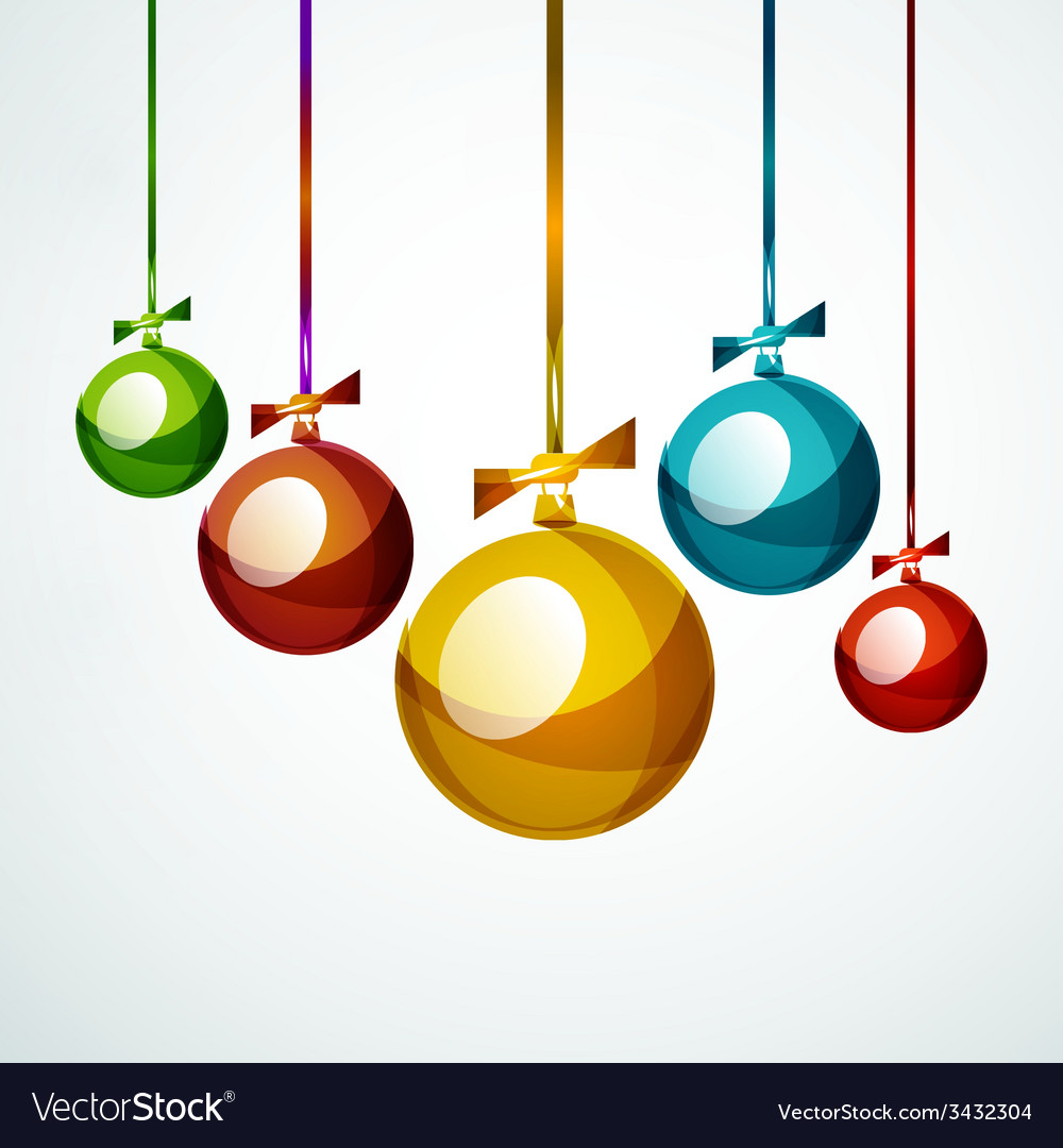 Christmas ball bauble new year concept vector   Price: 1 Credit (USD $1)