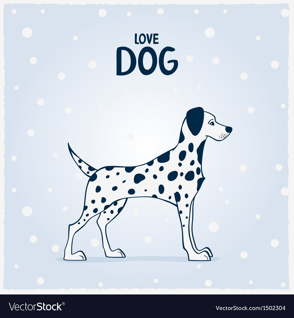 Dog dalmatian vector | Price: 1 Credit (USD $1)