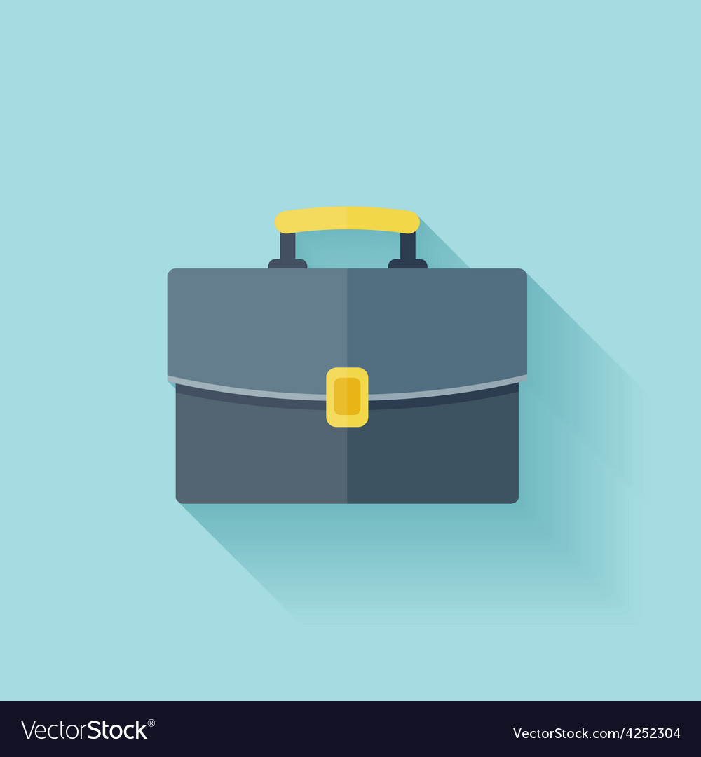 Flat business portfolio icon with shadow vector | Price: 1 Credit (USD $1)