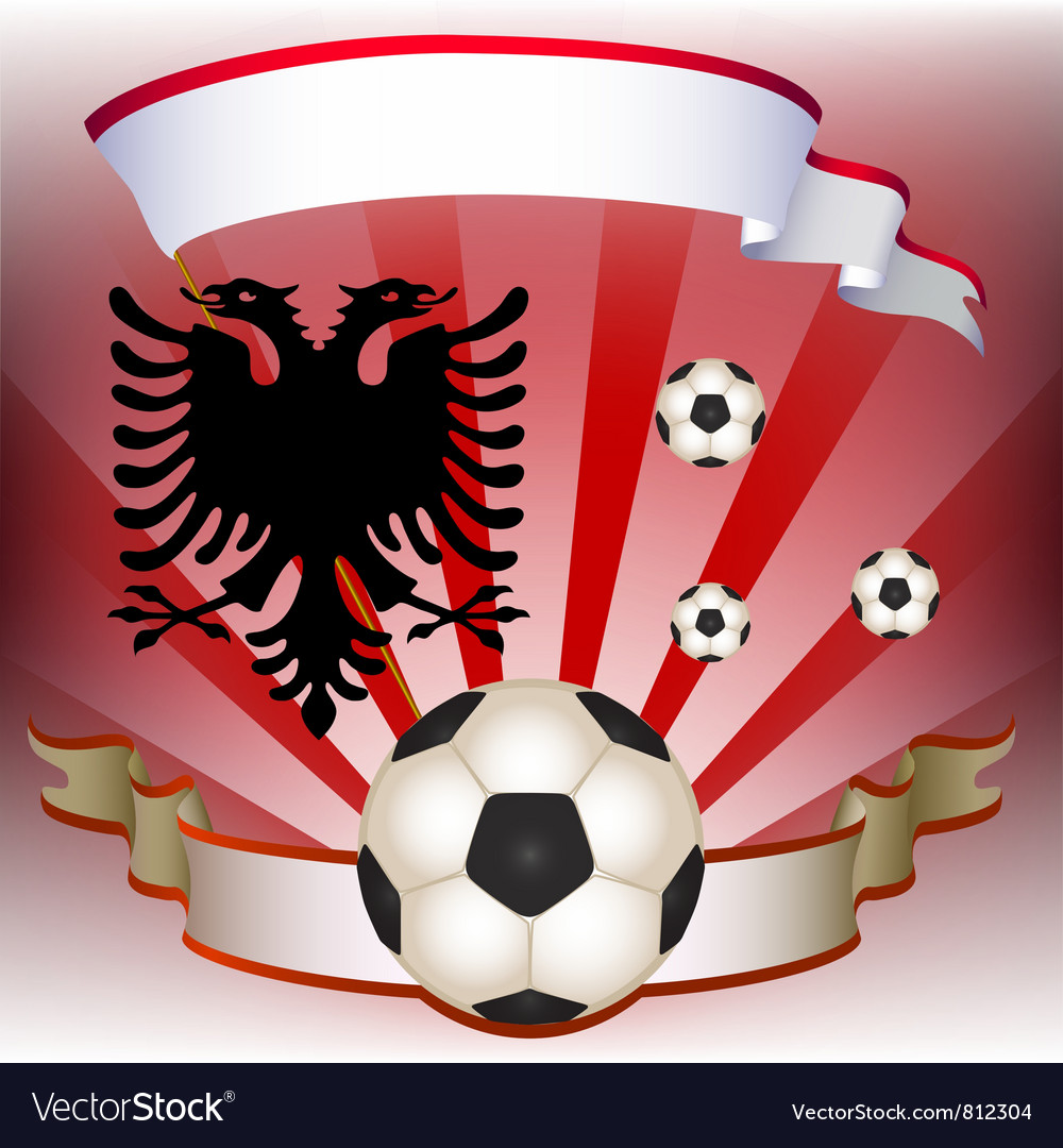 Football poster with albanian flag vector | Price: 1 Credit (USD $1)