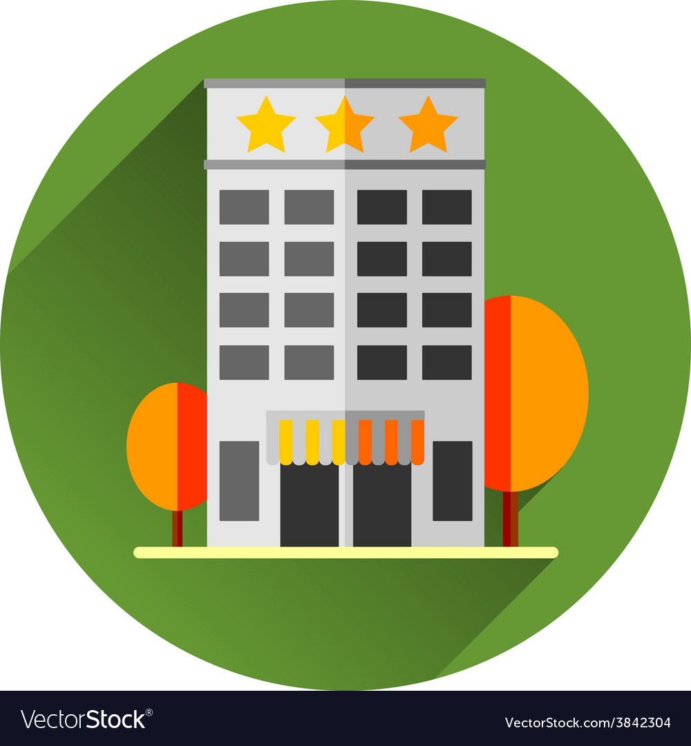 Hotel building eps8 vector | Price: 1 Credit (USD $1)