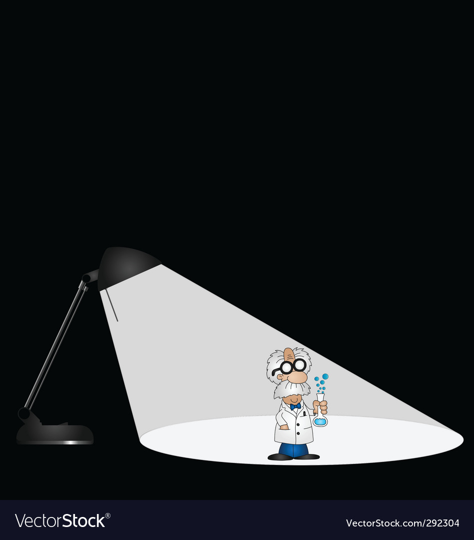 Lamp science vector | Price: 1 Credit (USD $1)