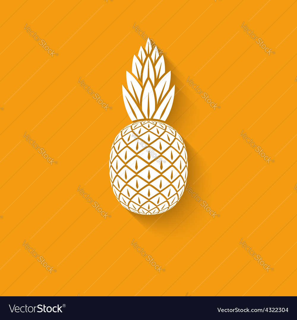 Pineapple tropical fruit symbol vector | Price: 1 Credit (USD $1)
