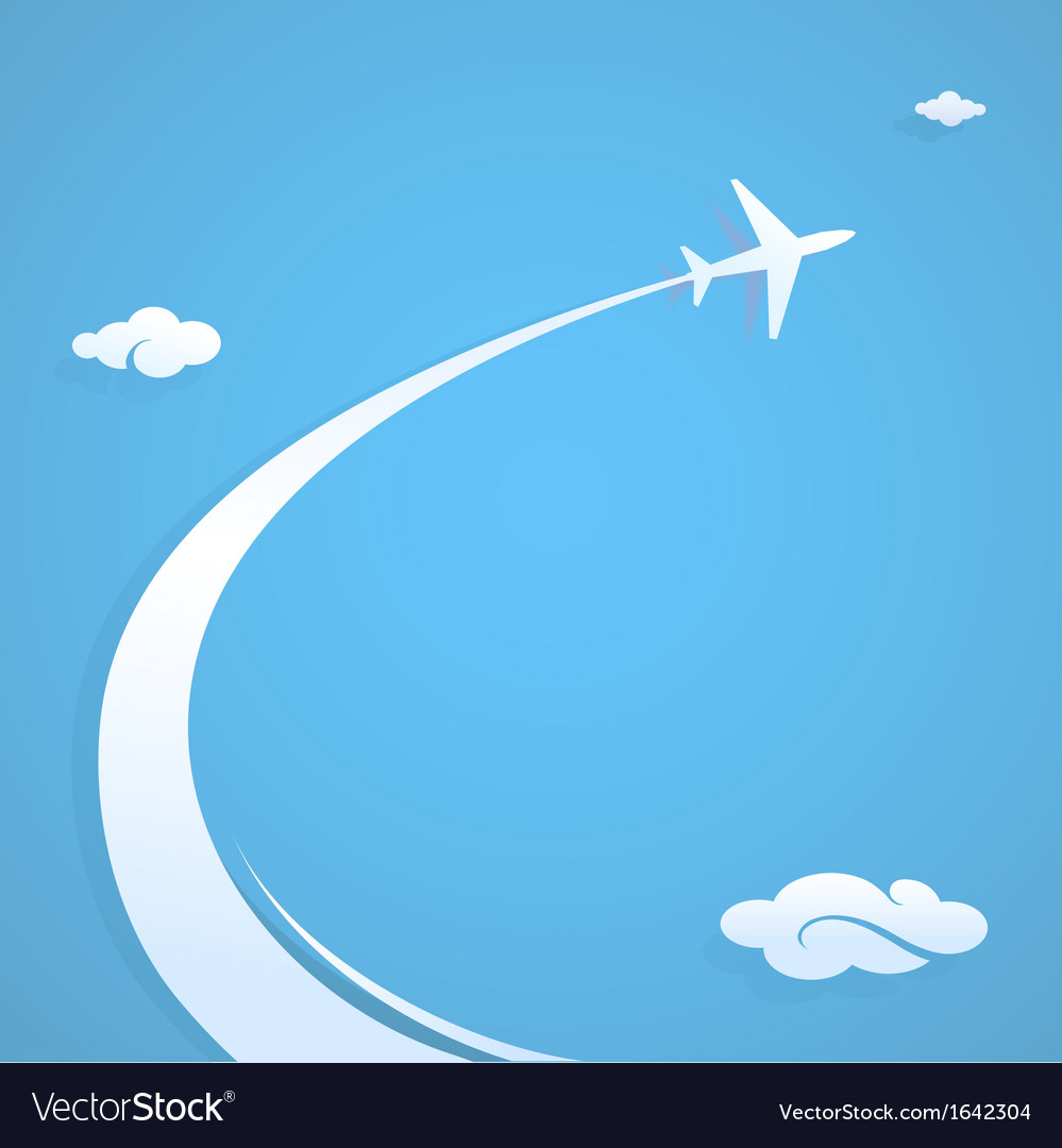 Plane flying in the sky vector | Price: 1 Credit (USD $1)