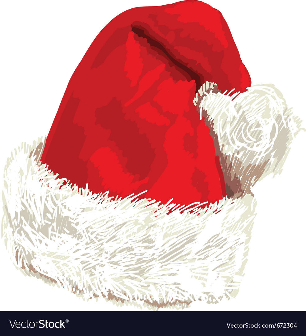 Santa hat vector | Price: 1 Credit (USD $1)
