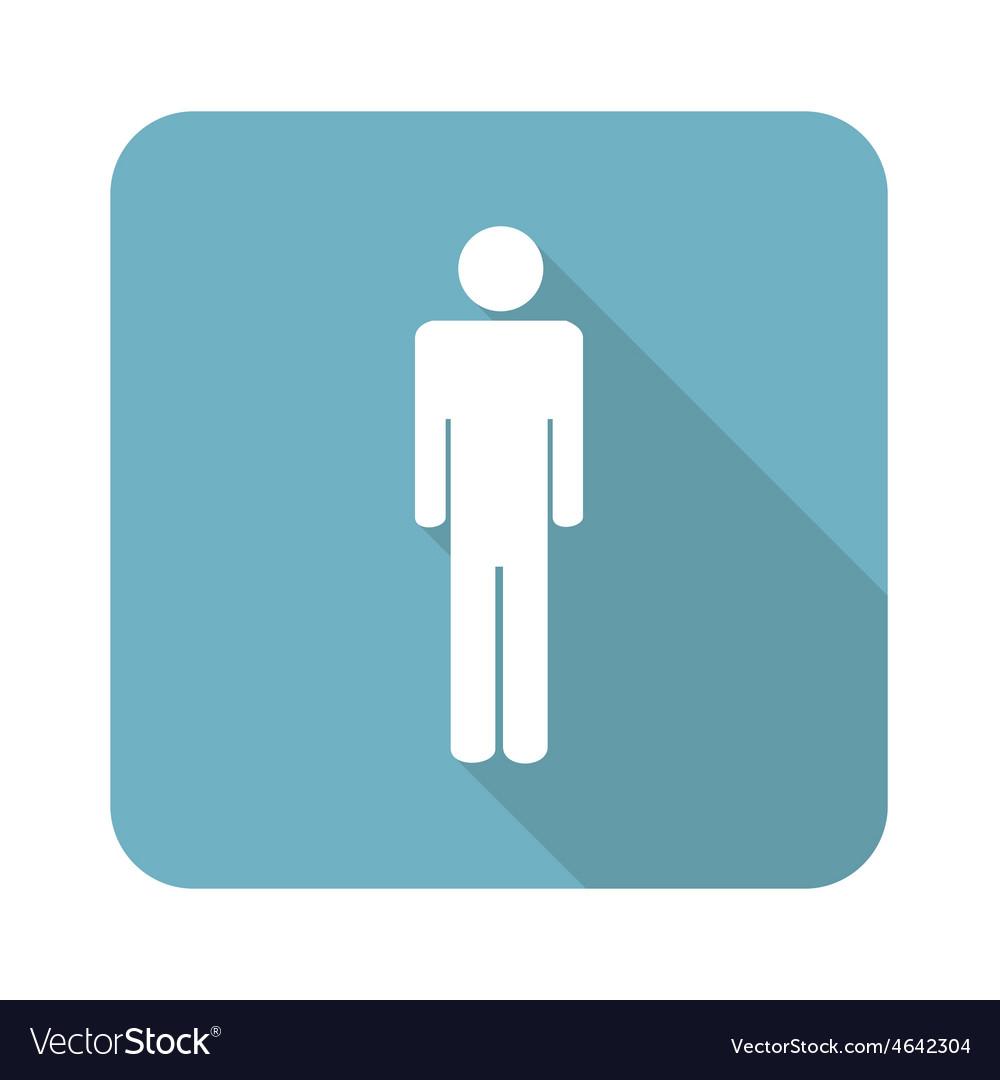 Square man icon vector | Price: 1 Credit (USD $1)