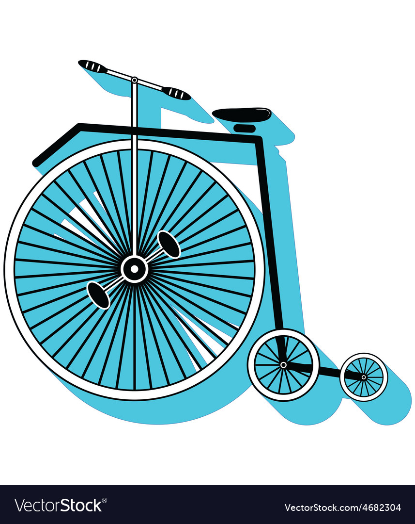 Vintage bike type 3 icon with a drop down shadow vector | Price: 1 Credit (USD $1)