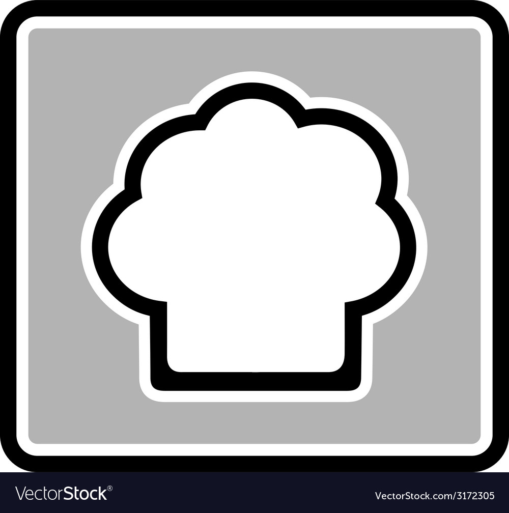 Chef hat gray icon vector | Price: 1 Credit (USD $1)