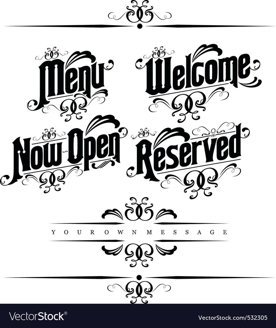 Classical restaurant decorativ vector | Price: 1 Credit (USD $1)