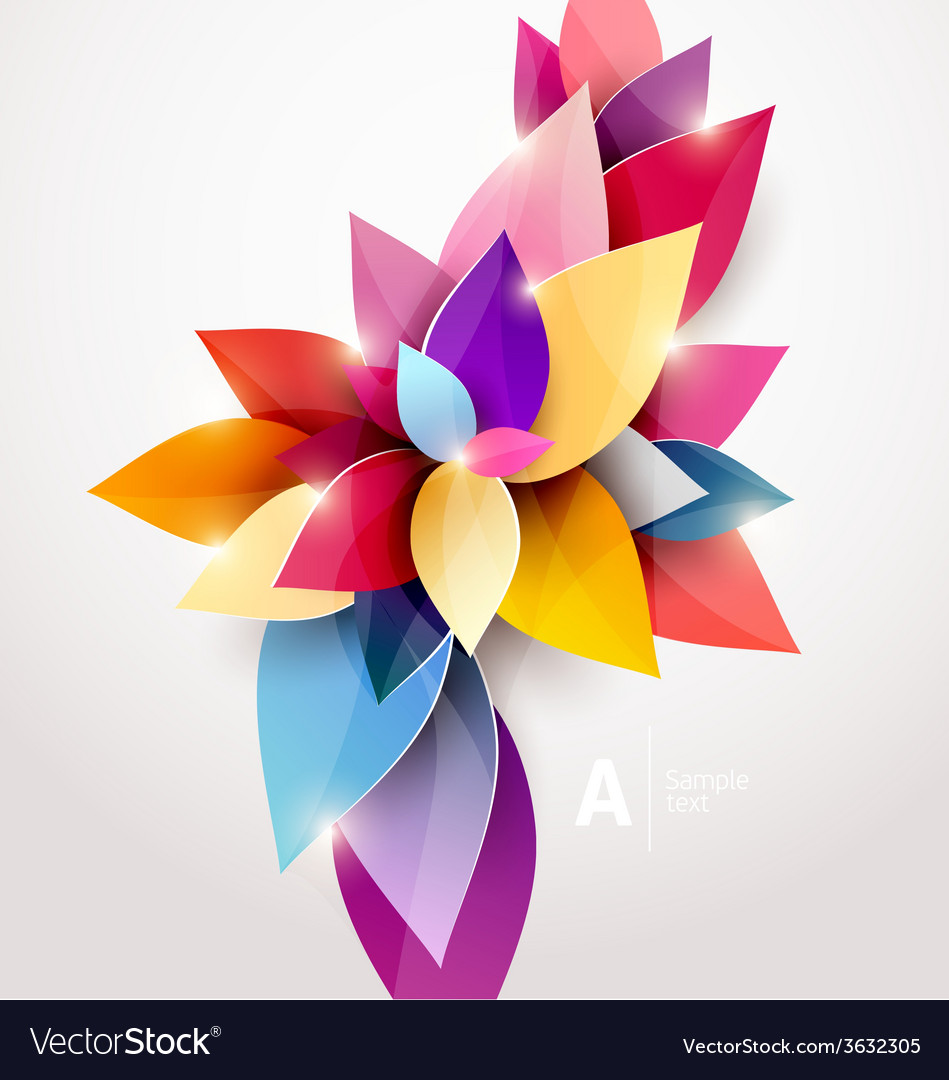 Floral abstract background vector | Price: 1 Credit (USD $1)