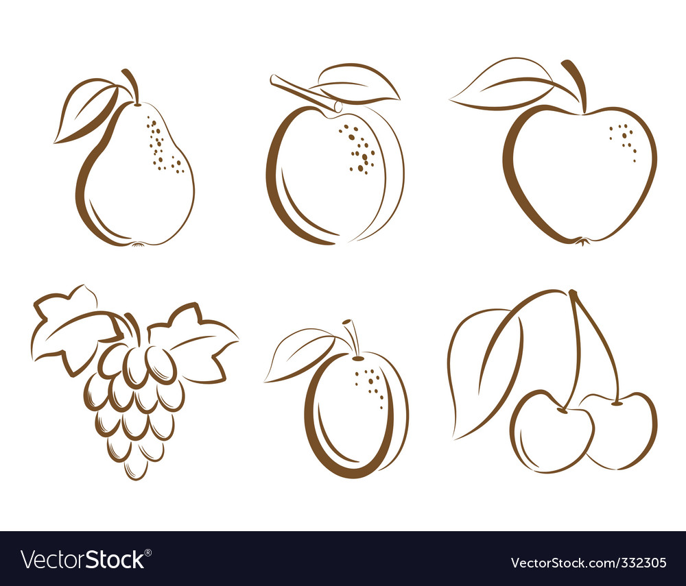 Fruits icons vector | Price: 1 Credit (USD $1)