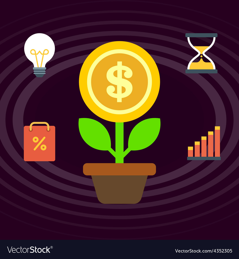 Grow business vector | Price: 1 Credit (USD $1)