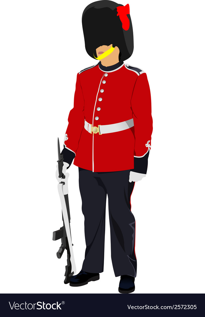 Image of beefeater isolated on white vector | Price: 1 Credit (USD $1)