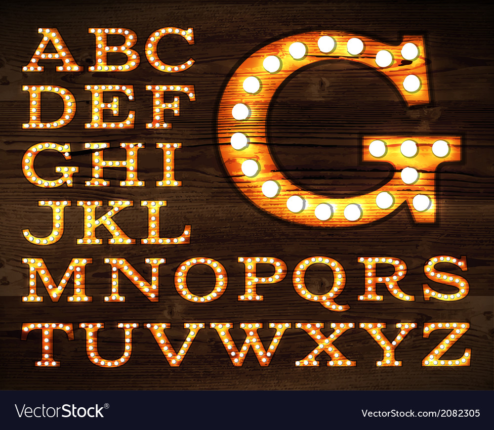 Lamp alphabet old style vector | Price: 1 Credit (USD $1)