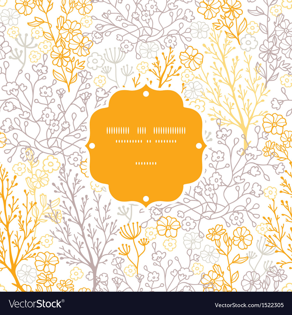 Magical floral frame seamless pattern background vector | Price: 1 Credit (USD $1)