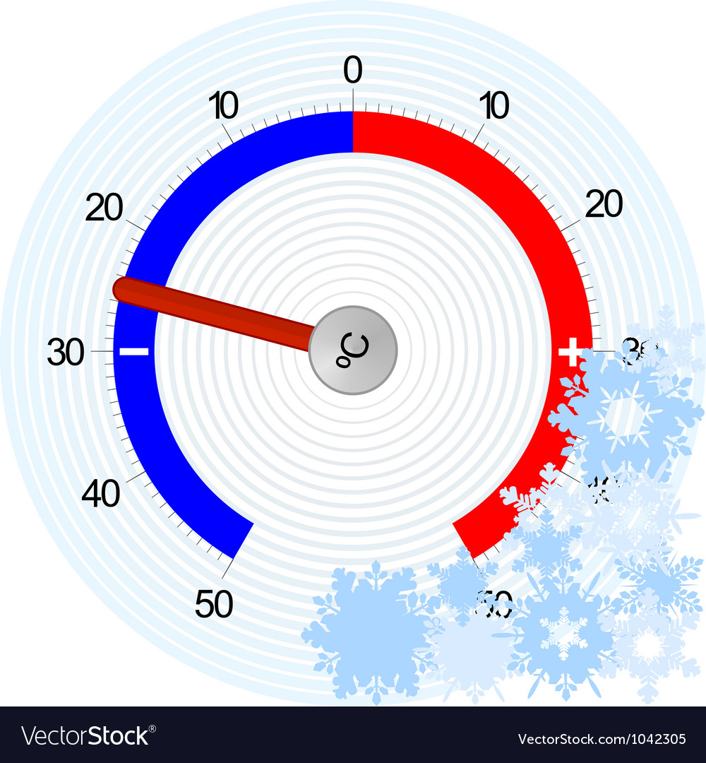 Thermometer winter vector | Price: 1 Credit (USD $1)