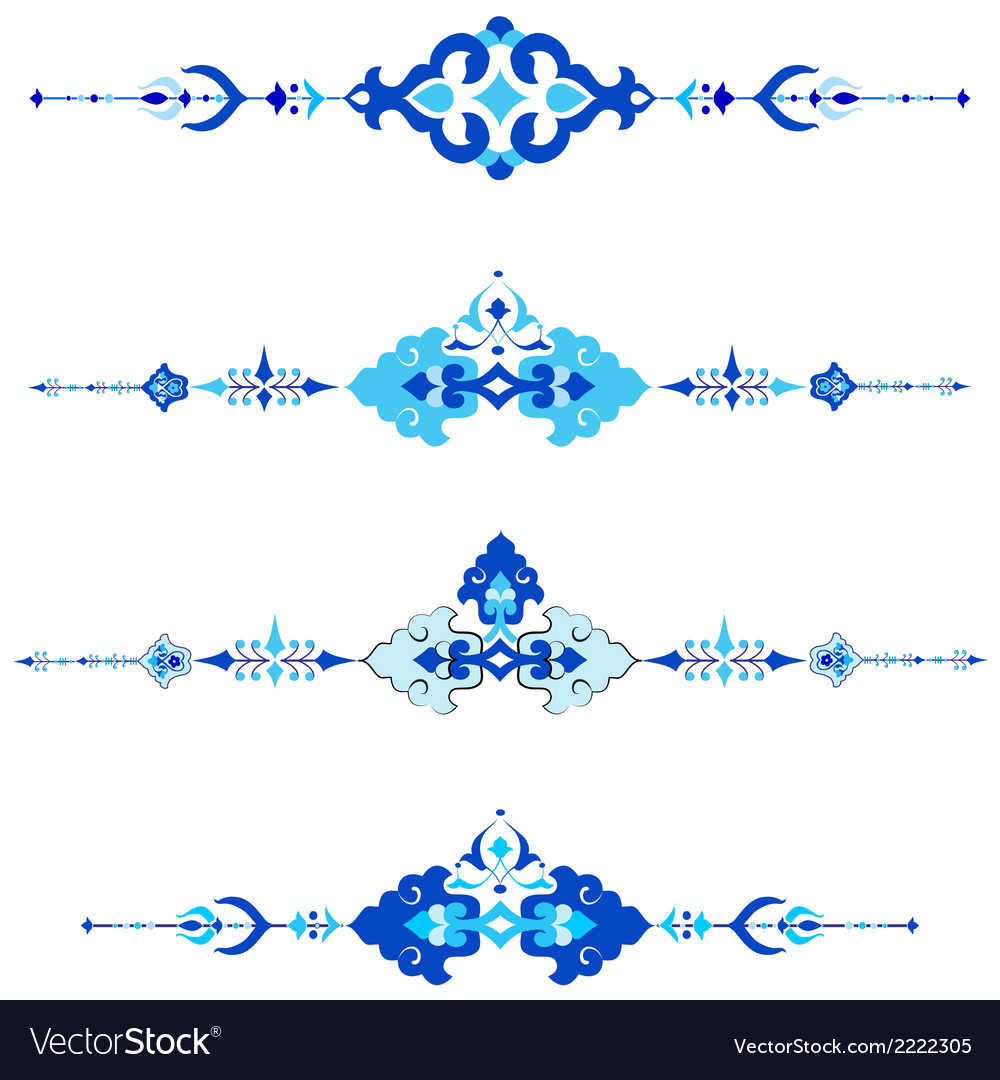 Ottoman motifs design series with thirty version vector | Price: 1 Credit (USD $1)