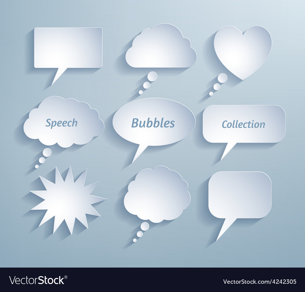 Paper bubble talks vector   Price: 1 Credit (USD $1)