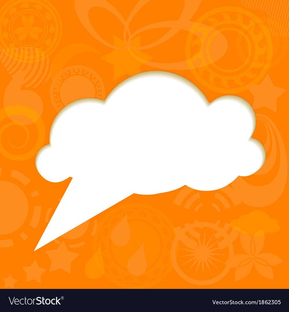 Paper cloud on funky background vector | Price: 1 Credit (USD $1)