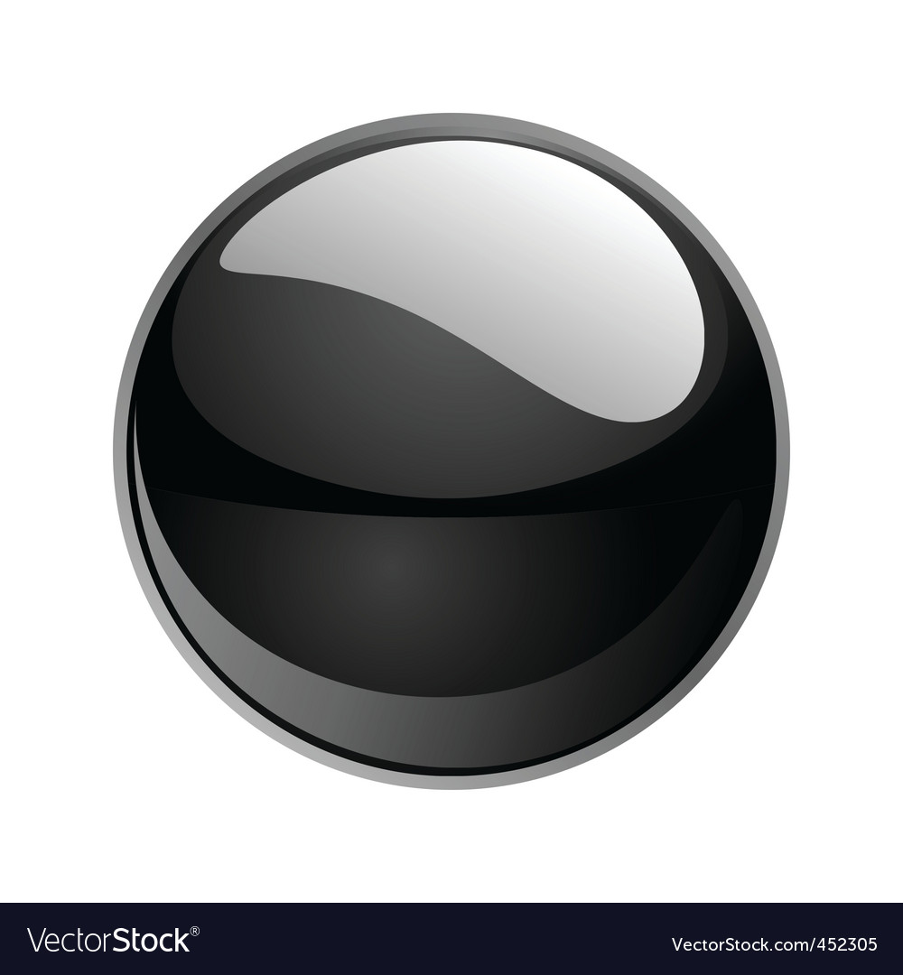 Shiny sphere 02 black vector | Price: 1 Credit (USD $1)