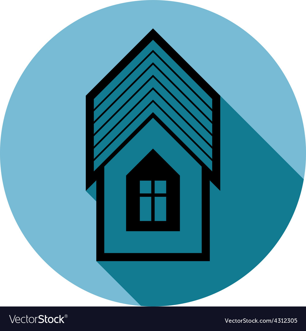 Simple house detailed property developer vector | Price: 1 Credit (USD $1)
