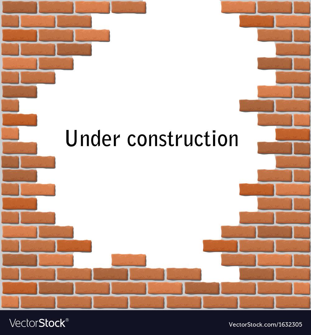 Text frame in broken brick wall vector | Price: 1 Credit (USD $1)