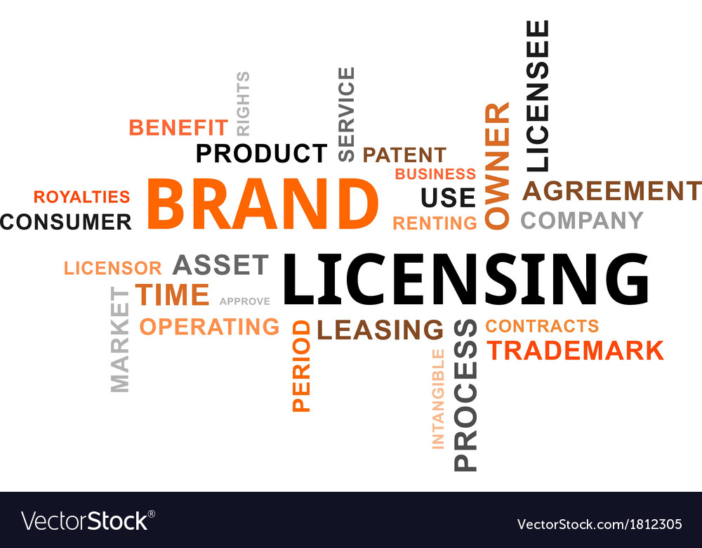 Word cloud brand licensing vector | Price: 1 Credit (USD $1)