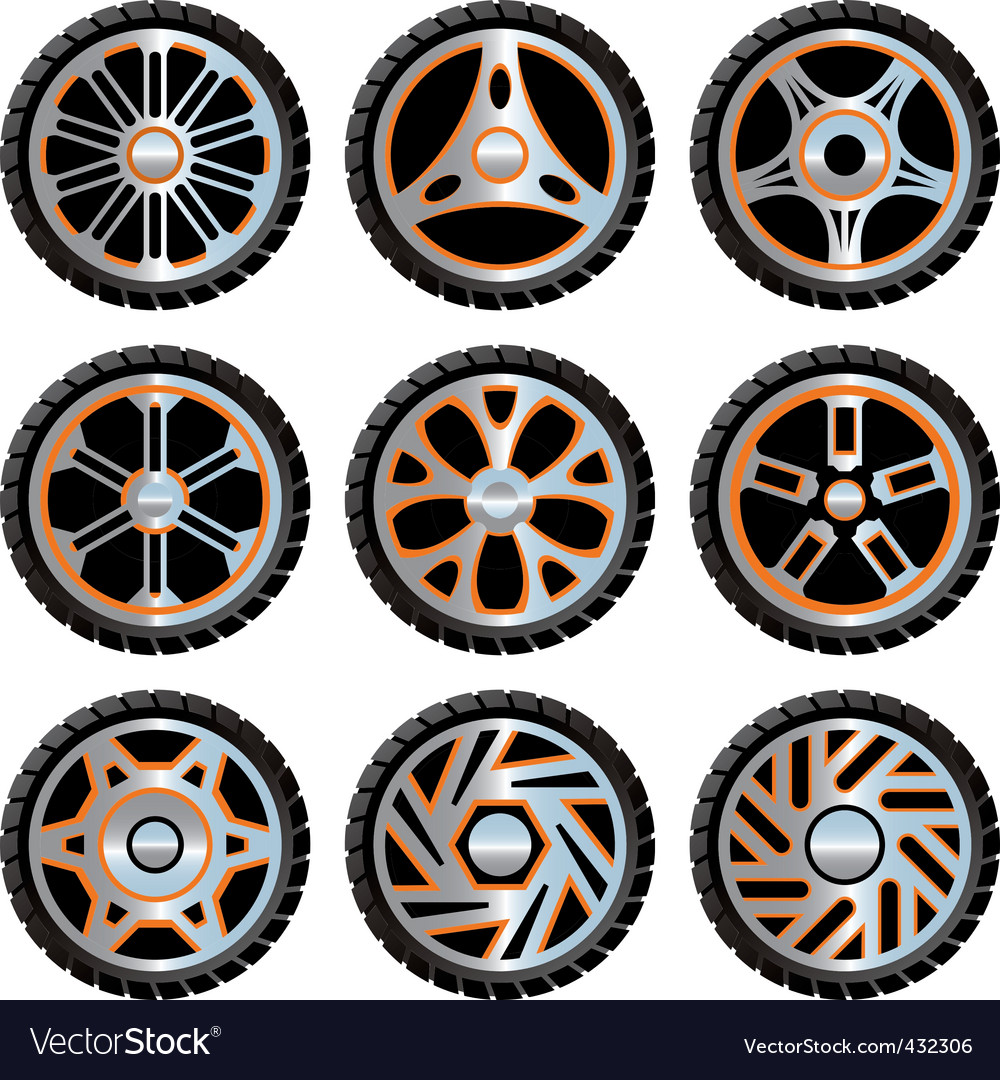 Aluminium wheels pack vector | Price: 1 Credit (USD $1)
