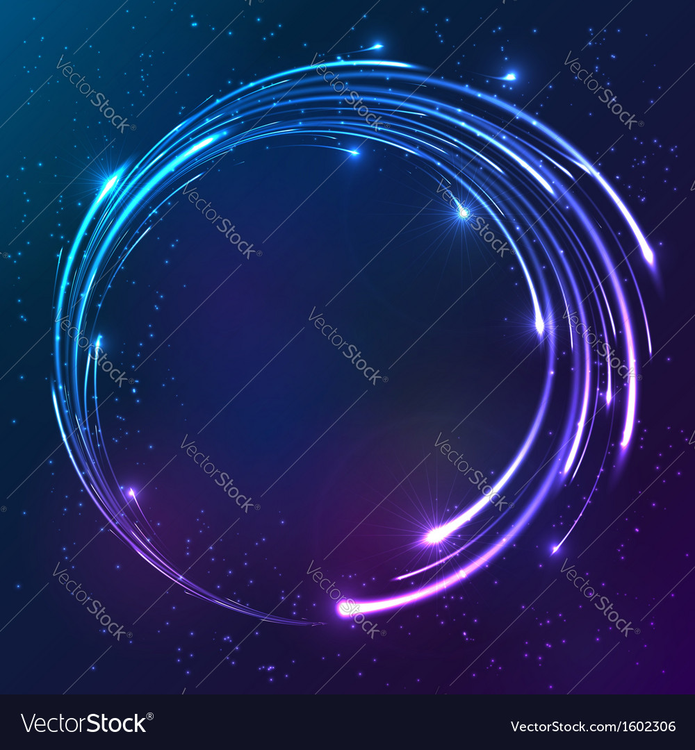 Bright shining neon lights circle background vector | Price: 1 Credit (USD $1)