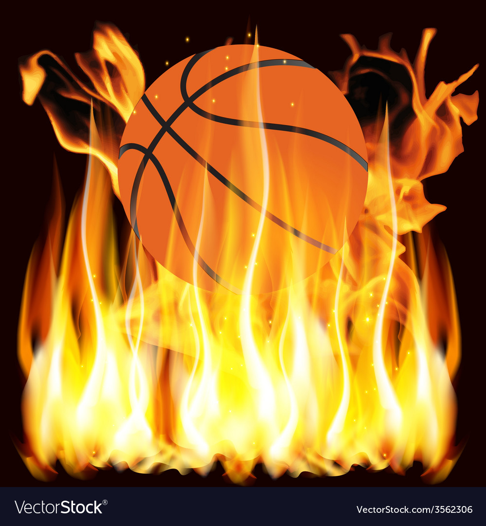 Flames and basketball vector | Price: 1 Credit (USD $1)