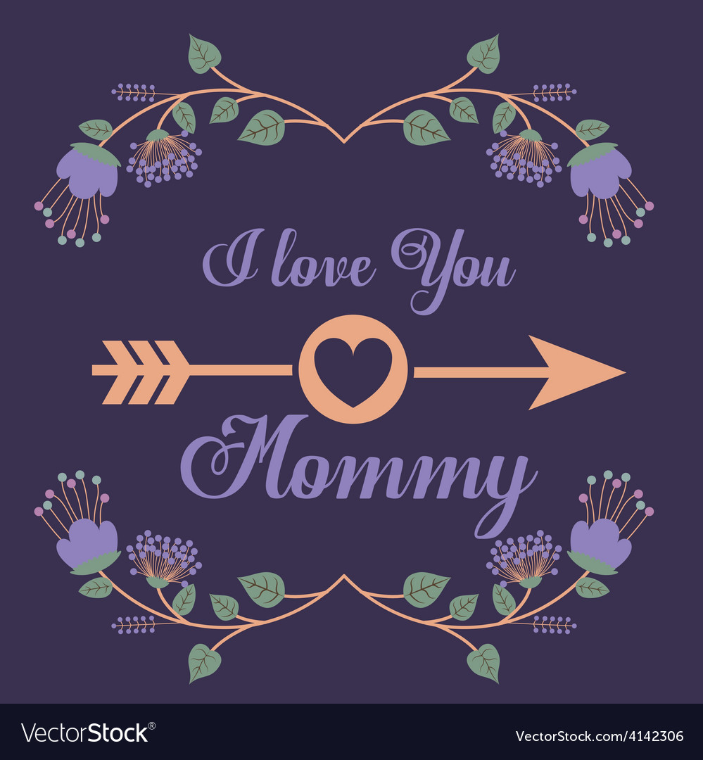 Happy mothers day design vector | Price: 1 Credit (USD $1)