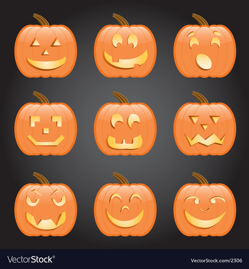 Jack-o-lanterns vector | Price: 3 Credit (USD $3)