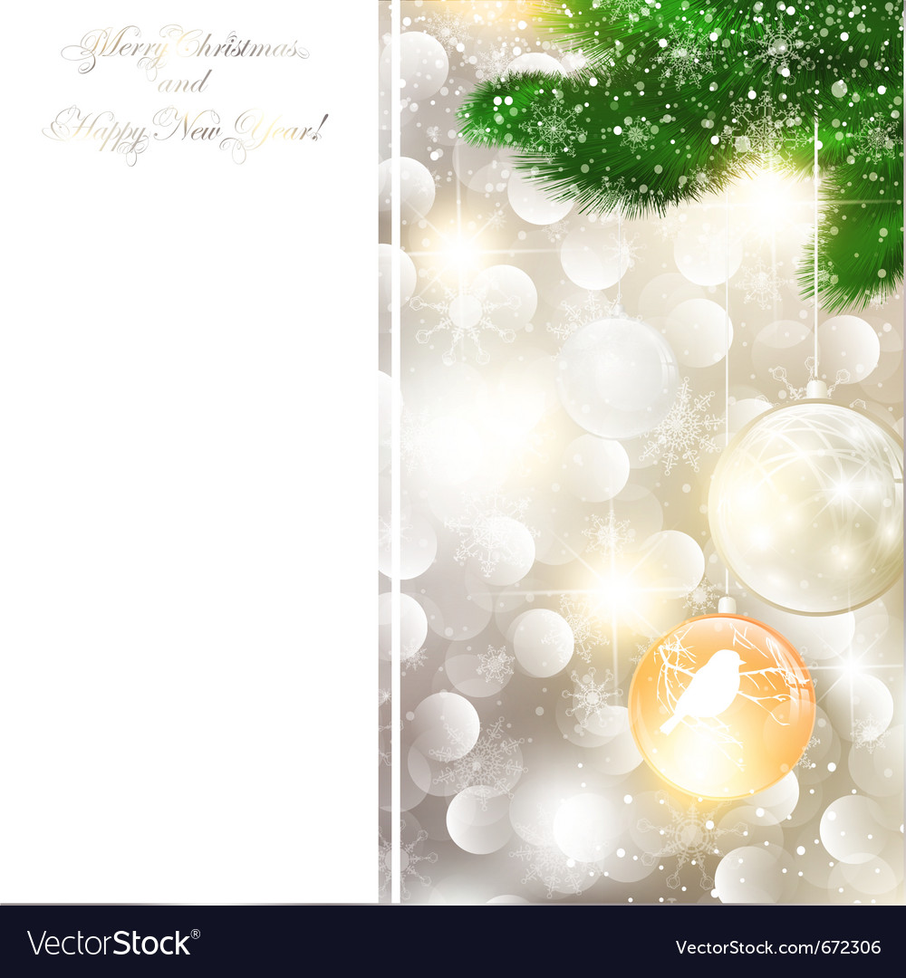 New year and christmas greeting card vector | Price: 1 Credit (USD $1)