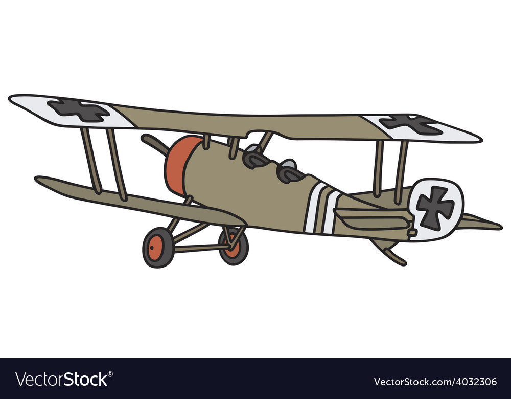 Old germany militarybiplane vector | Price: 1 Credit (USD $1)